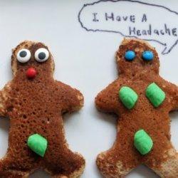 Adam And Eve Gingerbread Pancakes