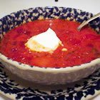 Borscht Or Beet And Cabbage Soup