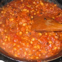 Baked Beans With Ham On Stovetop