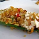 Quinoa And Veggie Stuffed Grilled Zucchini With Fe...