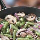 Sauteed Sugar Snap Peas With Red Onion And  Mushro...