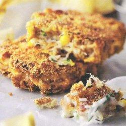 Crab-corn  Cakes With Basil-jalapeno Sauce