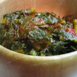 Collards In Homemade Bbq Sauce