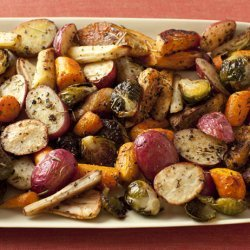 Roasted Potatoes Carrots And Brussels Sprouts