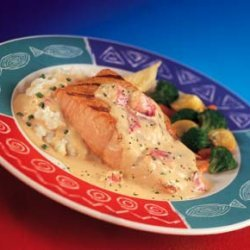 Red Lobsters Salmon With Lobster Mashed Potatoes recipe
