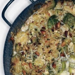 Cauliflower And Brussels Sprout Gratin With Pine N...