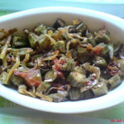 Okra With Onions And Tomatoes---- Fried Bhindi