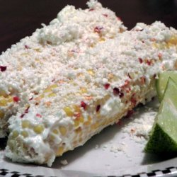 Elotes Con Crema Y Queso Corn With Sour Cream And ... recipe