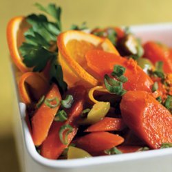 Carrot Salad with Orange, Green Olives, and Green Onions recipe