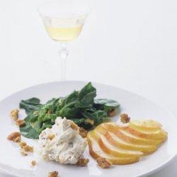 Arugula and Pear Salad with Mascarpone and Toasted Walnuts