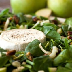 Baby Greens with Warm Goat Cheese
