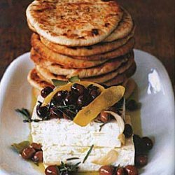 Feta and Marinated Niçoise Olives with Grilled Pitas recipe