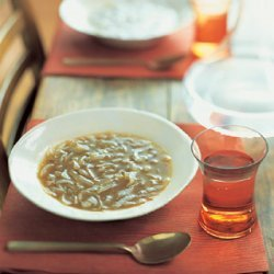 Onion Soup with Apple Cider