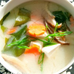 Miso Soup with Carrots and Tofu