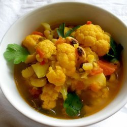 Curried Black-Eyed Pea Soup