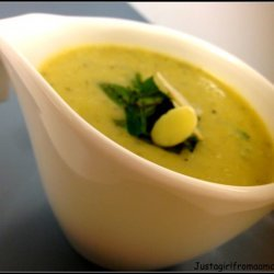 Cold Cucumber Soup with Mint
