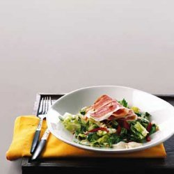 Serrano Ham Salad with Almond Garlic Sauce recipe