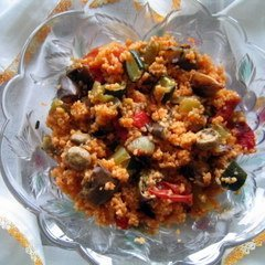 Bulgar Pilaf With Roasted Vegetables