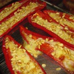 Goat Cheese Pepper Boats recipe