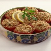 Tomatoes With Crispy Bread Topping recipe