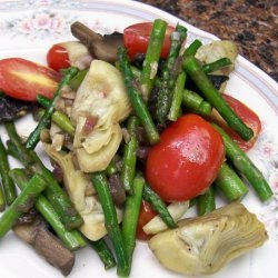 Asparagus Artichoke And Mushroom Saute In English