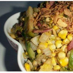 Sauteed Corn And Brussel Sprouts recipe