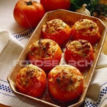 Greek Style Stuffed Tomatoes And Green Peppers