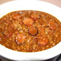 Three Meat Baked Beans recipe