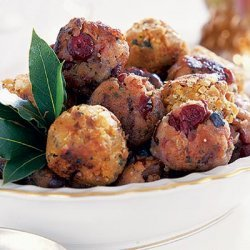 Chopped Chestnuts Bacon And Cranberry Stuffing Bal... recipe