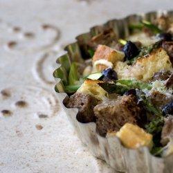 Savory Asparagus Bread Pudding