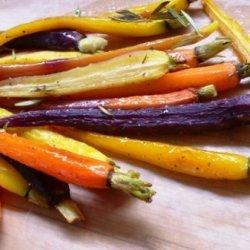 Roasted Rainbow Carrots With Rosemary & Honey recipe
