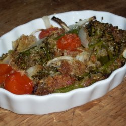 Roasted Broccolini And Tomatoes