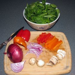 Sauteed Spinach And Sweet Bell Peppers