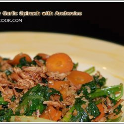 Stir Fry Garlic Spinach With Anchovies