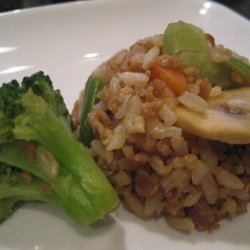 Oriental Veggie Tvp Fried Rice recipe