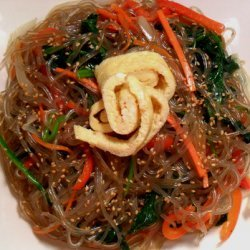 Vegetarian Japchae (korean Glass Noodles W Vegetab...