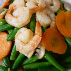 Stir Fry French Beans With Prawn Cutlets
