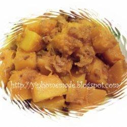 Stir Fried Pumpkin With Dried Shrimp recipe