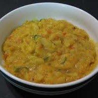 Red Split Lentils With Cabbage (masoor Dal Aur Ban...
