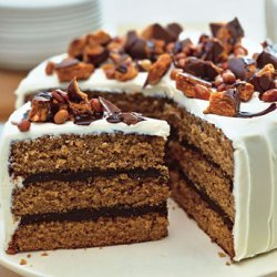 Chocolate-peanut Butter Cake With Cream Cheese And...