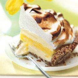 Lemon Meringue Ice Cream Pie In Toasted Pecan Crus...