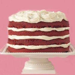 Easy Red Velvet Cake With White Truffle Frosting