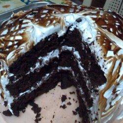 Dark Choc Cake Wth Choc Fudge And Marshmallow Icin...