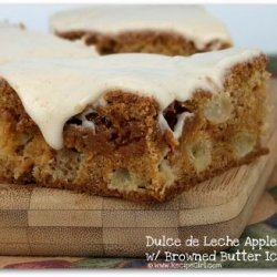 Dulce De Leche Apple Bars With Browned Butter Icin...