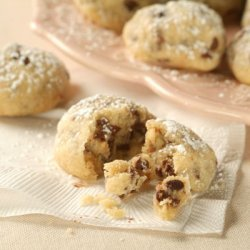 Mini Chocolate Chip Snowball Cookies