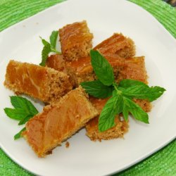Applesauce Bars With Orange Glaze