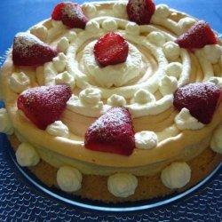 Almond Meringue Spin Cake