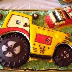 Linos Second Birthday Tractor Cake