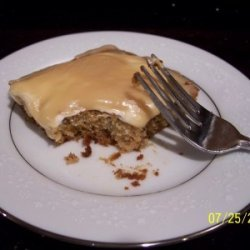 Marshmallow Creme Banana Bars recipe