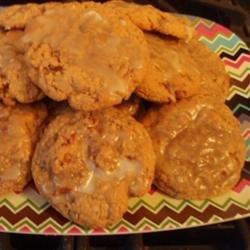 Bacon Oatmeal Breakfast Cookies With Maple Glaze